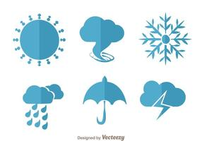 Wetter Flat Vektoren