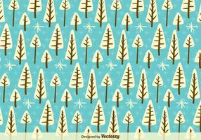 Weiße Karikatur Bäume Muster vektor