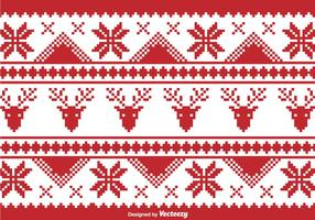 Weihnachten traditionelle Pixel Grenze vektor