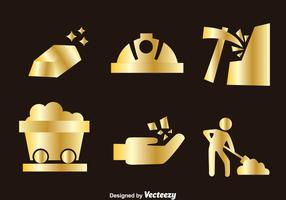 Goldmine Ikonen vektor