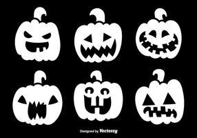 Halloween weiße Kürbisse vektor
