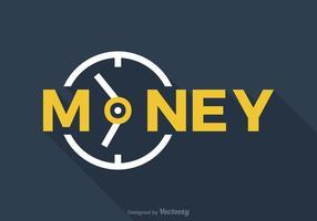 Freie Zeit ist Geld Vektor Wort Art