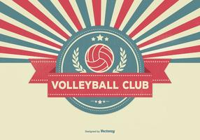 Retro volleybollklubba illustration