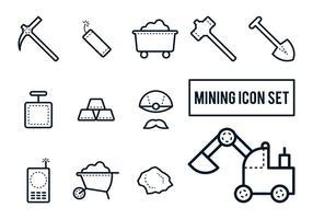 Bergbau-Icon-Set vektor