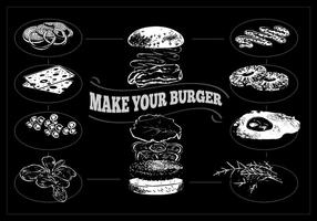 Gratis Hamburger Process Vector Illustration