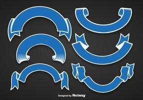 Blaue Bänder vektor