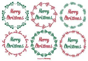 Söt juletikettuppsättning vektor