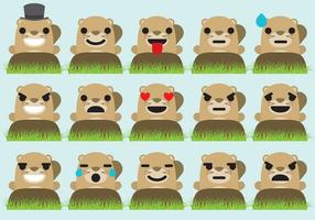 Groundhog emoticons vektor