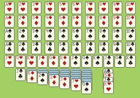 Solitare Karten Pixel-Stil