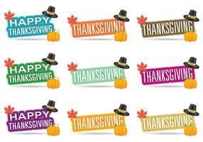 Thanksgiving-Titel vektor