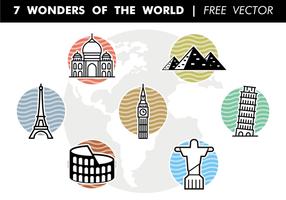 7 Wunder der Welt Free Vector