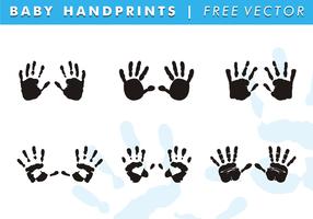 Baby handprints fri vektor
