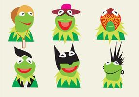Verschiedene Charaktere von Kermit der Frosch vektor