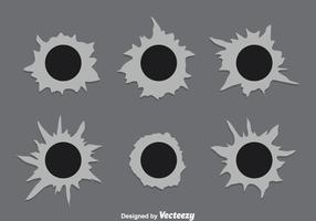 Bullet Loch Metall vektor