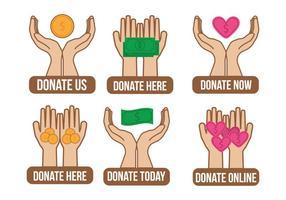 Spenden Icon Vektor