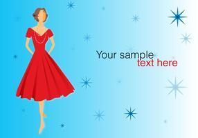 Retro Kleid posiert vektor