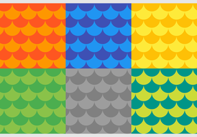 Fisch-Skalen Free Vector Patterns