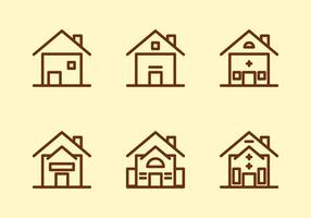 Freie Townhomes Vector Icons # 5