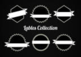 Gratis vektor samling av etiketter