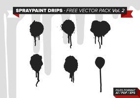 Spraypaint tropft kostenlos vektor pack vol. 2