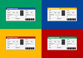 Kostenlose Flugticket - Boarding Pass Vektor