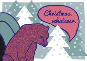 Fri handdragen brun björn illustration
