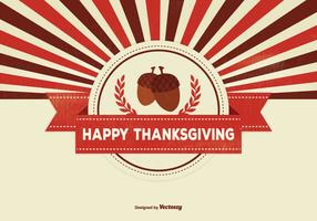 Retro Thanksgiving Hintergrund Illustration