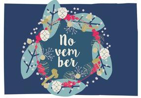 Herbst November Illustration Hintergrund