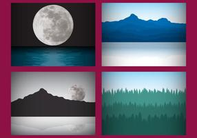 Mystische Landschaftsvektoren vektor