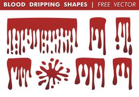 Blod droppande former fri vektor