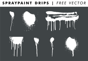 Spraypaint Drips kostenloser Vektor