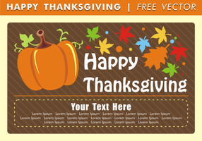 Glad Tacksägelsekort Gratis Vektor