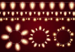Glödande ljussträngsvektorer