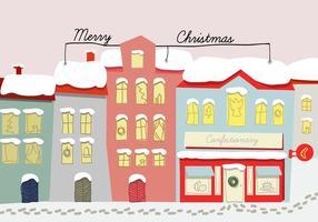 Free Hand Drawn Weihnachten Hintergrund Illustration vektor
