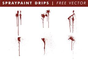 Spraypaint droppar fri vektor