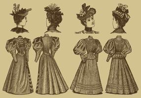 Gamla stilklänningar