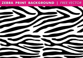 Zebra print bakgrund fri vektor