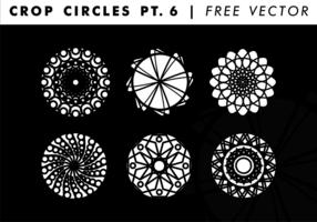 Beskära cirklar PT. 6 Gratis Vector