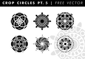 Beskära cirklar PT. 5 Gratis Vector