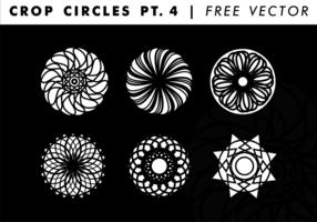 Beskära cirklar PT. 4 Gratis Vector