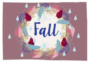 Netter Herbst Kranz Illustration Hintergrund