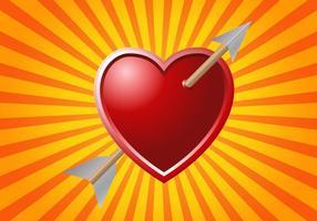 Fri pil genom hjärta vektor