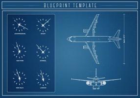 Free Airlplane Blueprint Vektor