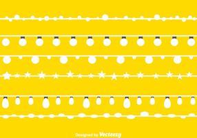 Weiße String Lights vektor