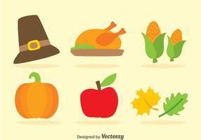 Thanksgiving flache Ikonen