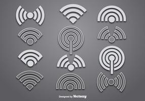 Vektor wifi Logo Vektoren