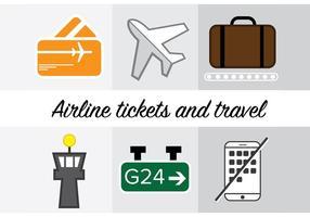 Airline icons vektor