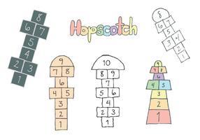 Kostenlose Hopscotch Vector Serie