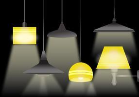 Schalte die Lampenvektoren ein vektor
