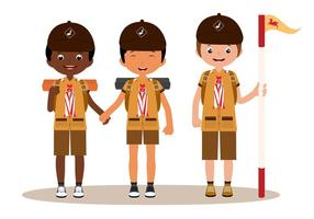 Pojke scouts vektorer